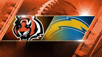 BENGALS WIN 17-10. Week 13: Bengals at Chargers: The Bengals fly to San Diego to play the Chargers on Sunday, Dec. 1 at 4:25 p.m.