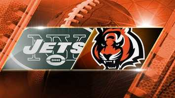 BENGALS WIN 49-9. Week 8: Jets at Bengals: The New York Jets come to Cincinnati to play the Bengals on Sunday, Oct. 27 at 4:05 p.m. at Paul Brown Stadium.