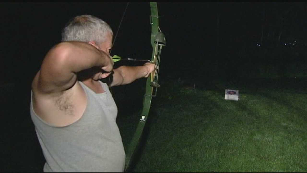 A loose Husky ends up dead after being shot by a neighbor with a bow and arrow.