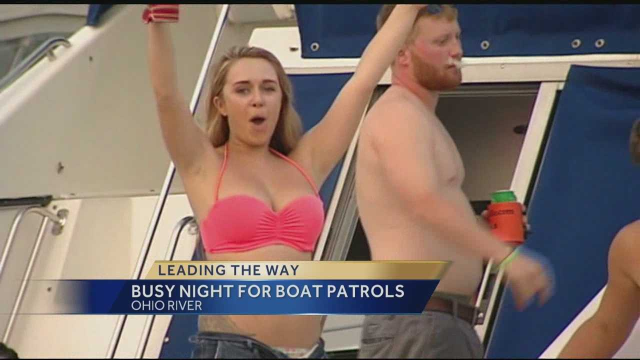 Many of the concert-goers took the party to the water, celebrating on their boats, which can be fun but sometimes dangerous.