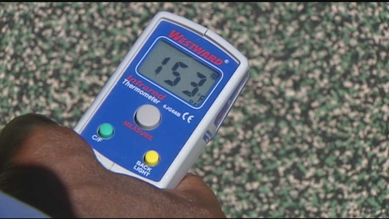 WLWT News 5 found some playground equipment baking in the summer sun. Surface temperatures soared past 150 degrees on some equipment.