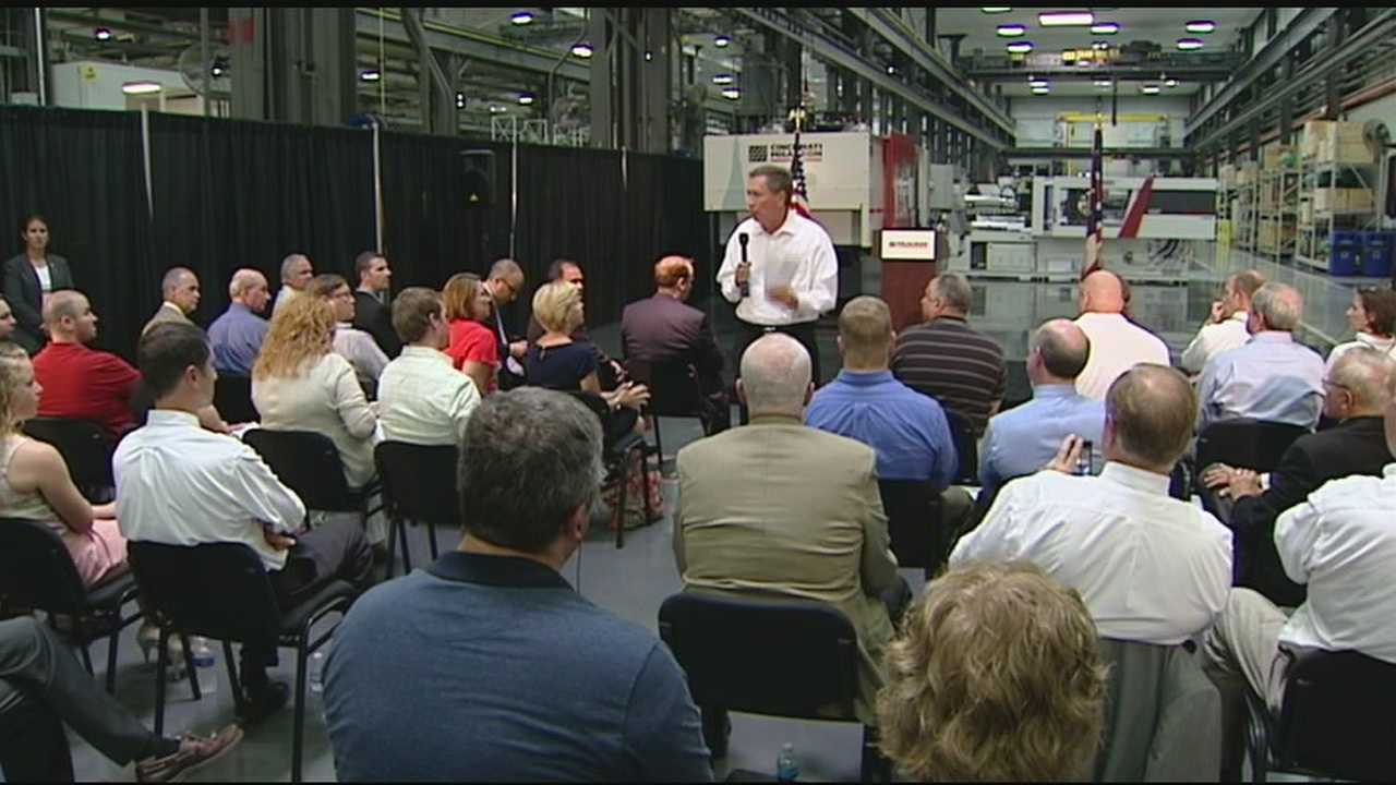 Ohio Governor John Kasich was in Batavia Thursday touting state loans that help small businesses and the economy.