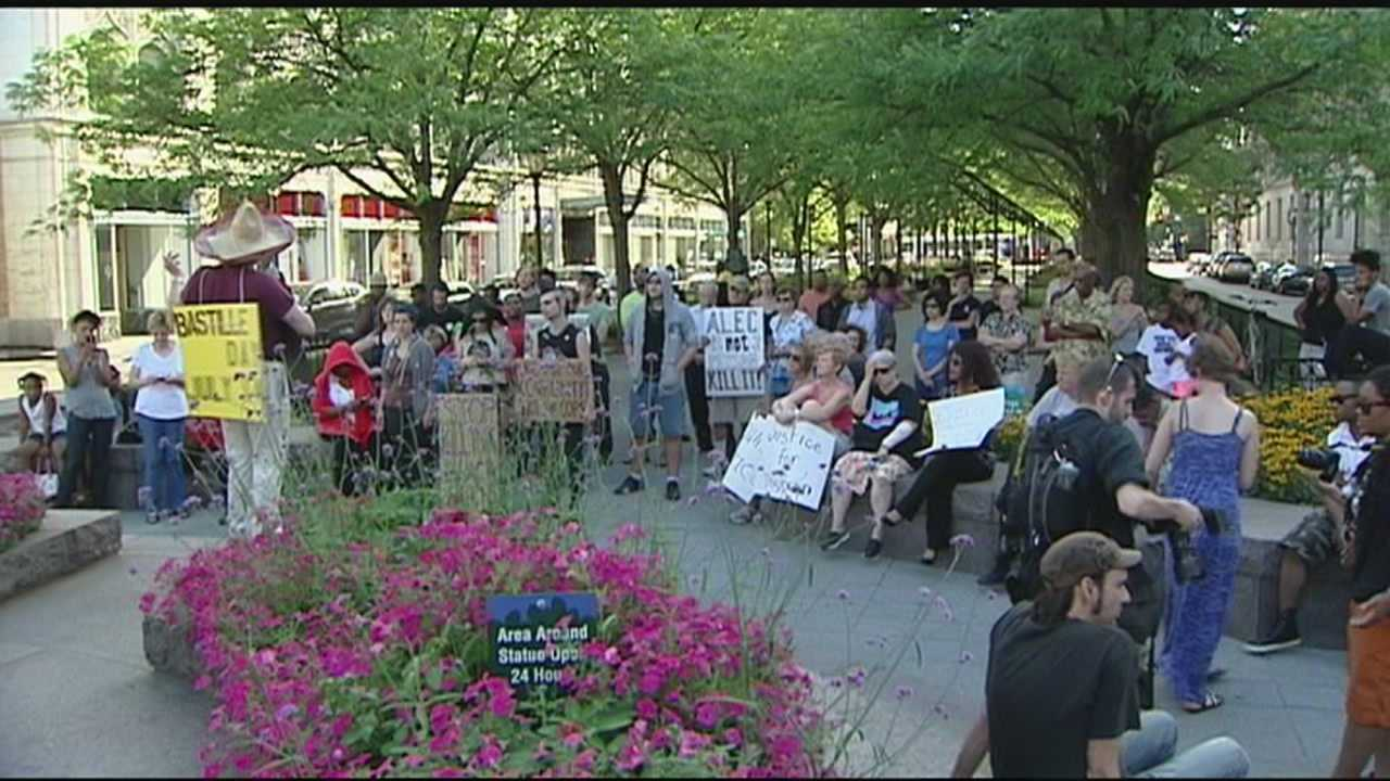 The protest starts Saturday at noon on Main Street. WLWT spoke to the president of the local chapter of the National Action Network who says he has met with police and federal marshals and everything is a go for a peaceful protest.