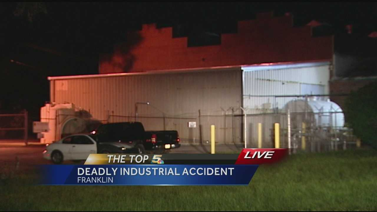 A worker died after an accident at a Franklin plant.