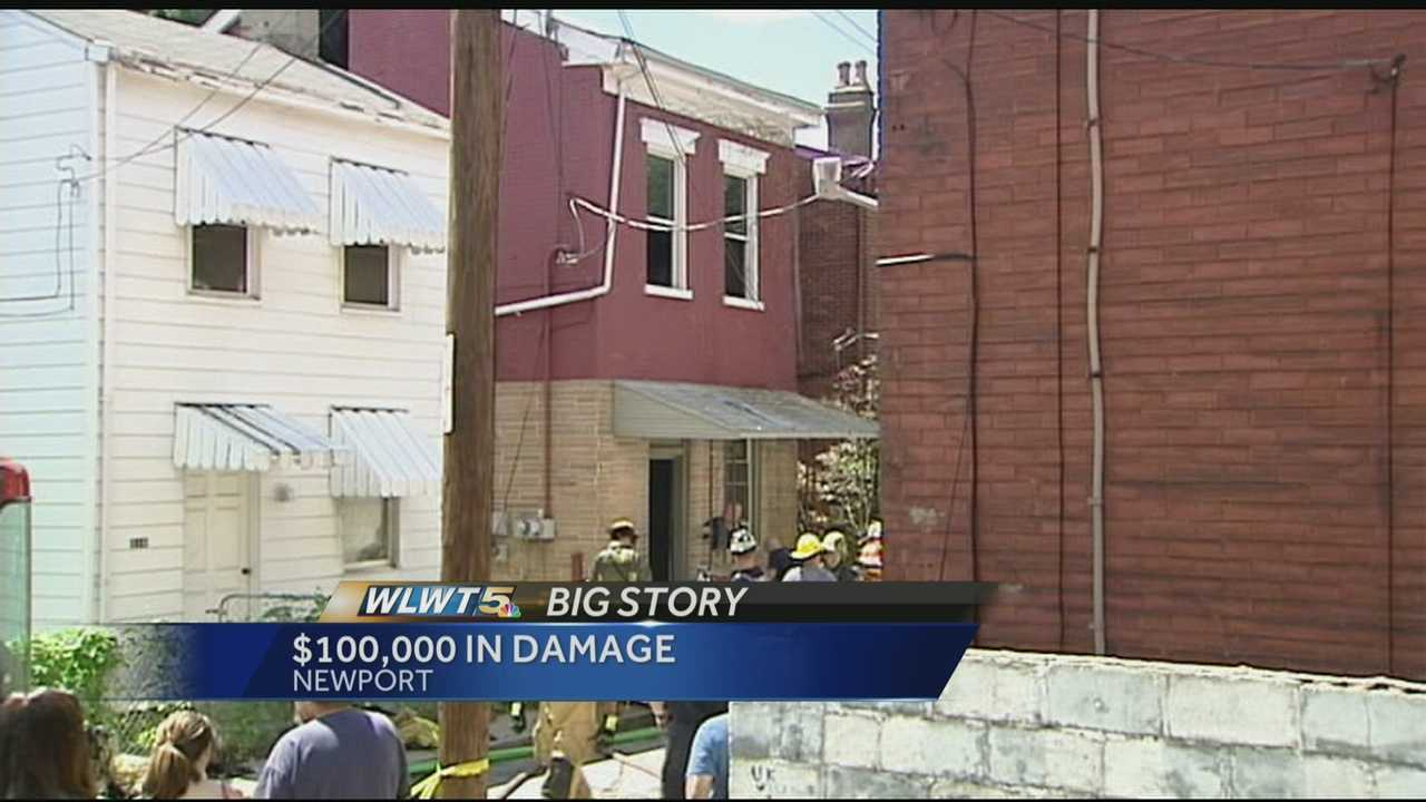 A fire at a home in Newport caused more than $100,000 in damage and left eight people homeless.