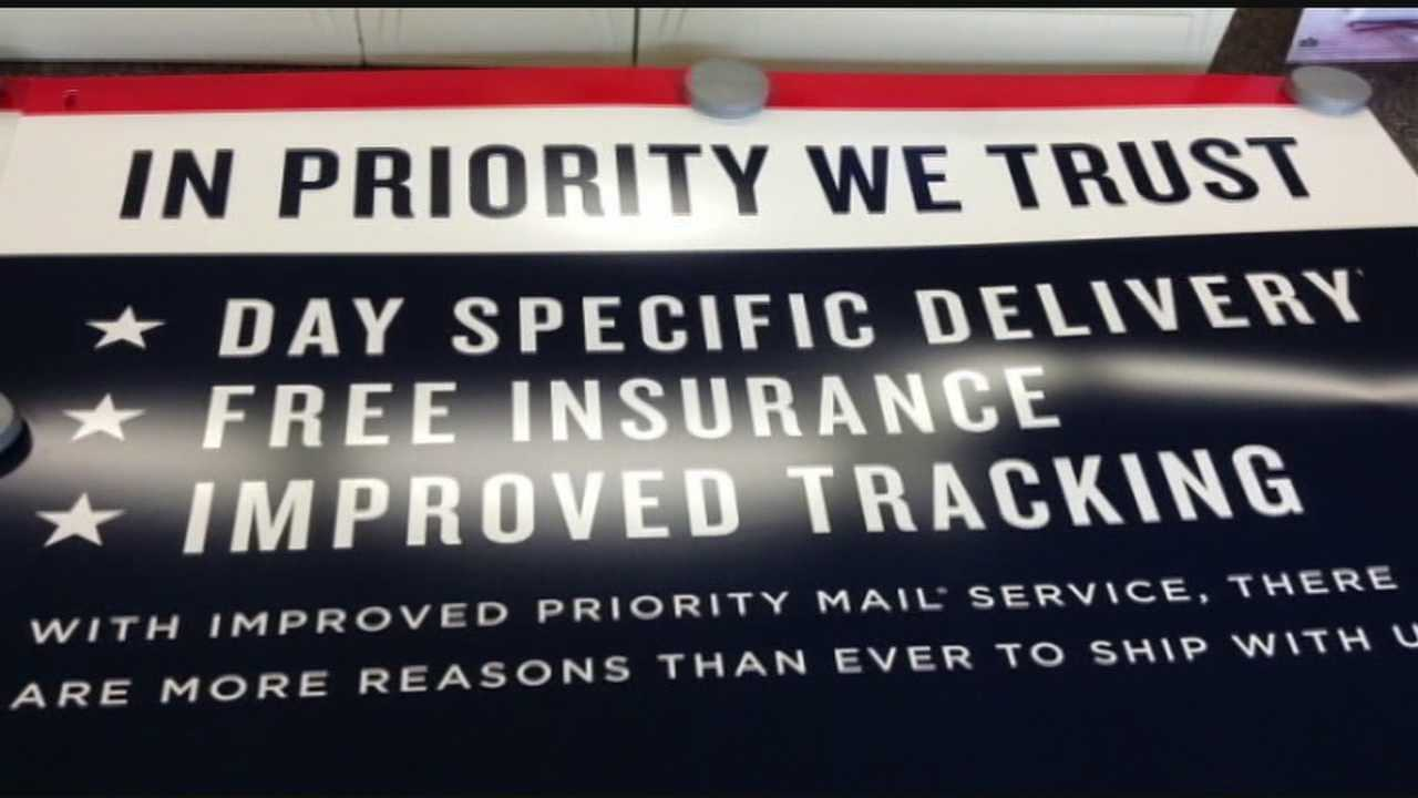 "It is a poster saying ""in priority we trust"". USPS officials say those posters were sent to most major post offices this week."
