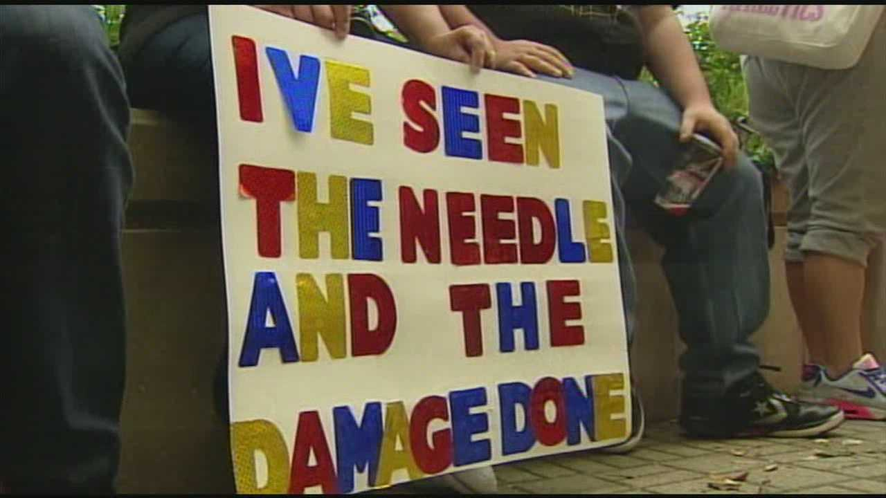 A community came together for a rally to fight against heroin use.