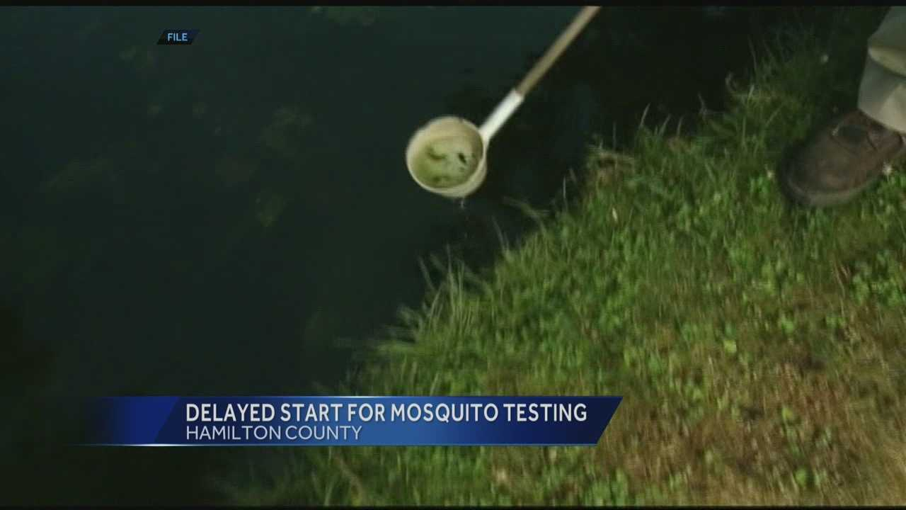 A pool of mosquitoes has tested positive for the West Nile virus in a wooded area of a southwest Ohio park.