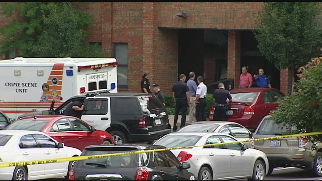 A man is dead and a woman is seriously hurt after a shooting at an office building.
