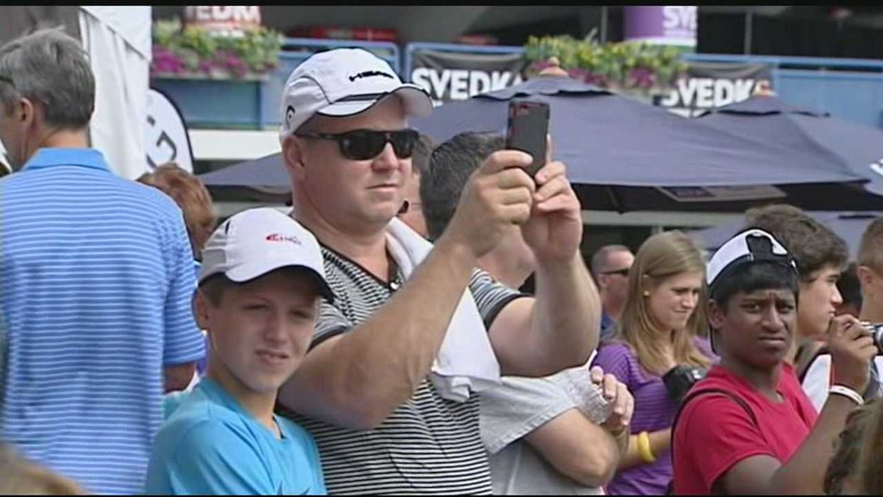 It's a major tournament here in Cincinnati but with a smaller feel. That's the draw for thousands of tennis fans who visit the Western & Southern Open every year.