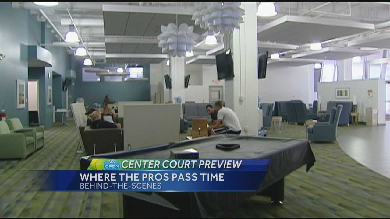 When you watch the Western & Southern Open on WLWT, you will see all the action on the court, but there are several places around the complex that are only open to the players.