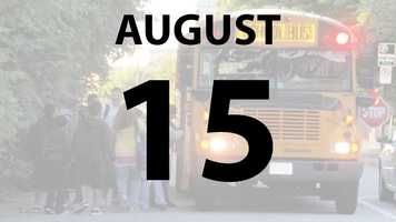 North College Hill City Schools begin on Thursday, August 15.