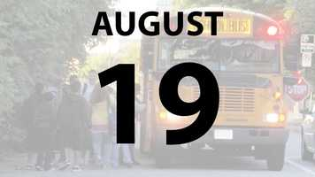 Madeira and Princeton city schools begin on Monday, August 19.