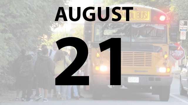 Cincinnati, Finneytown, Forest Hills, Norwood, Reading, St. Bernard-Elmwood Place, Mason, Clermont Northeast and Winton Woods city schools all start on Wednesday, August 21.