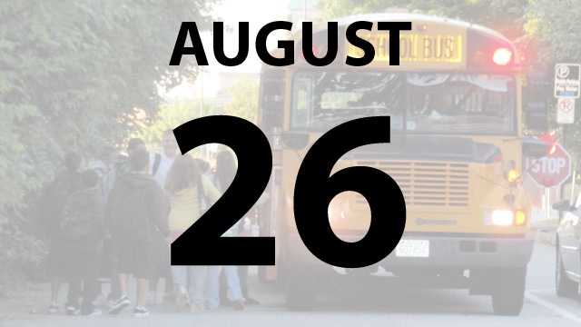 Loveland, Milford Exempt Village, West Clermont and Mariemont city schools start back on Monday, August 26.