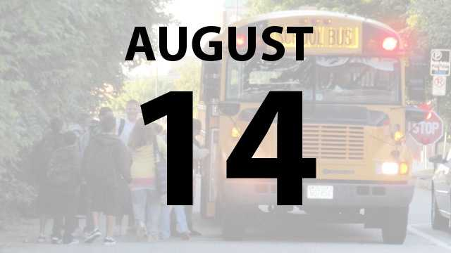 Wilmington and Middletown city schools, Madison Local Schools, Kenton County and Boone County Schools start Wednesday, August 14.