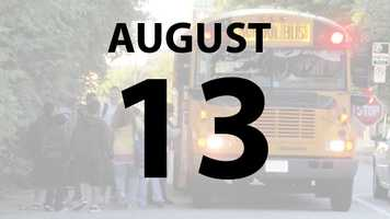 Hamilton City Schools start on Tuesday, August 13.