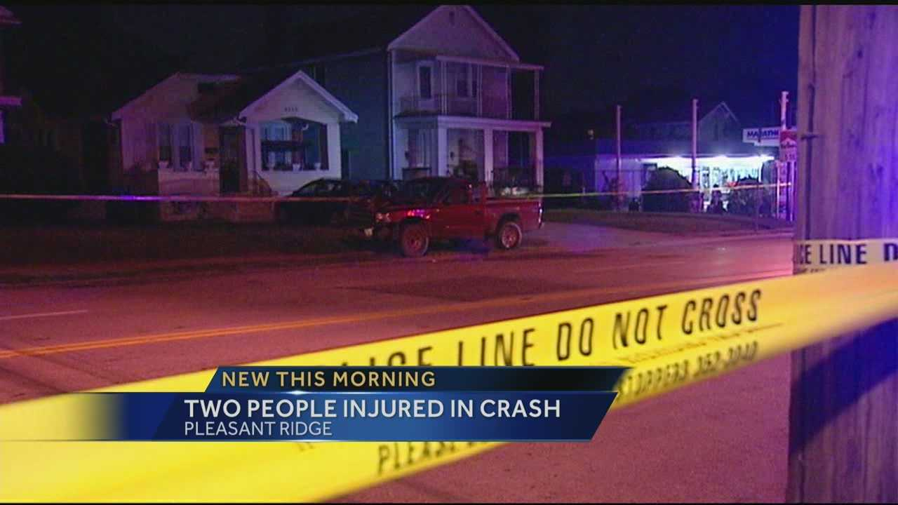 Woman in critical condtion after overnight crash in Pleasant Ridge