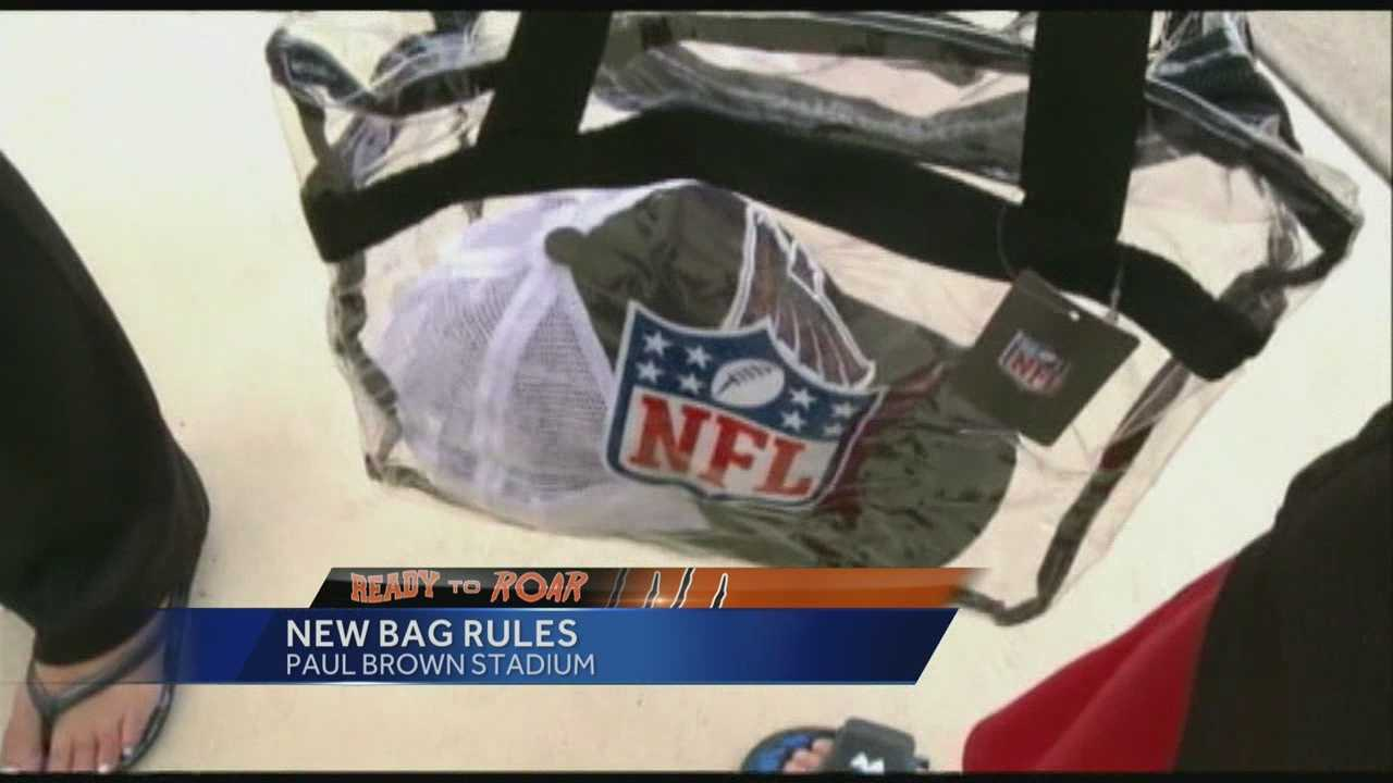 At the Bengals first preseason home game, some Bengals fans said they didn't know about the NFL's new bag policy.