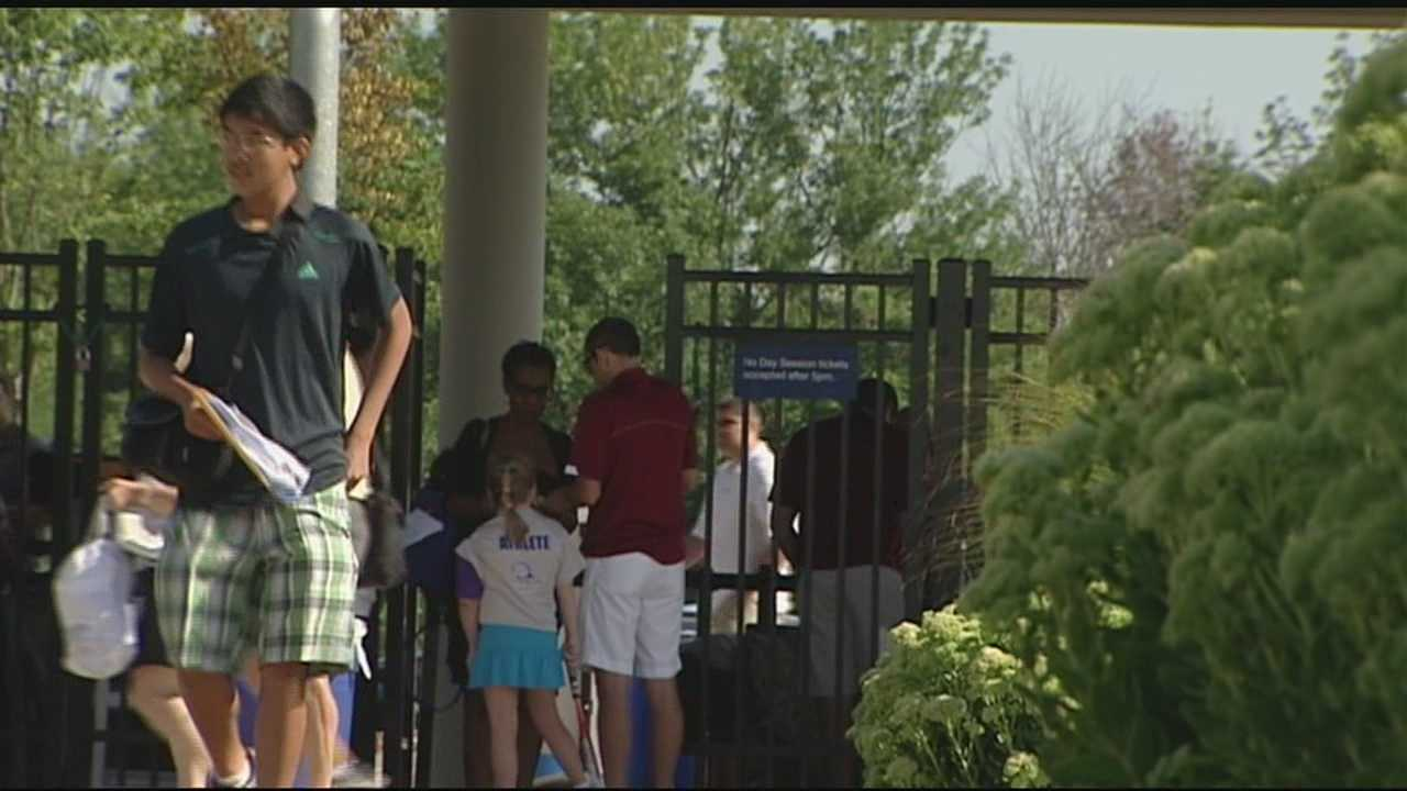 Fans gather for the finals at Linder Family Tennis Center