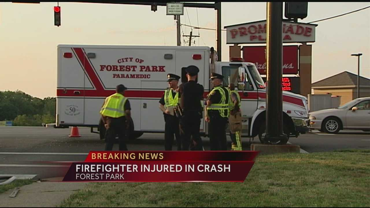 Police investigate a crash in Forest Park that puts two people in the hospital.