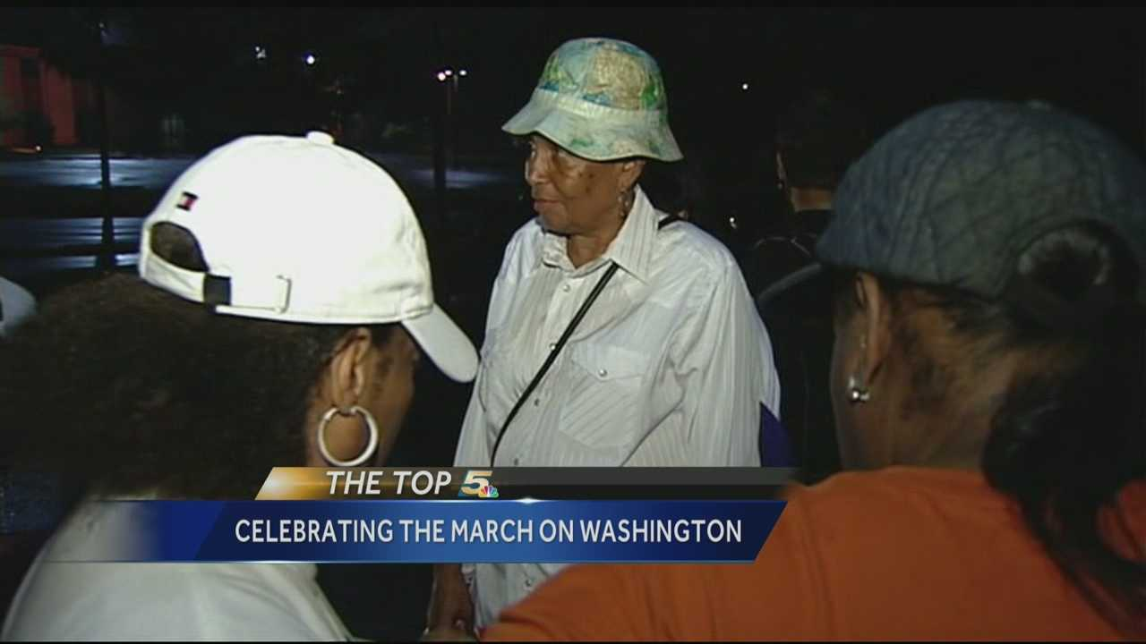 Buses head to Washington D.C. on Friday for a celebration of the 1963 March on Washington.