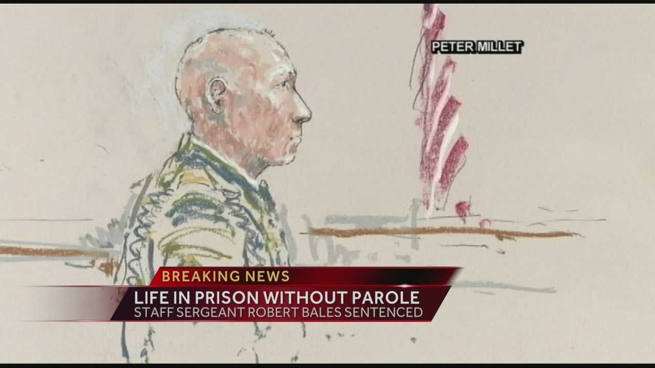 Norwood native Robert Bales received a life sentence for massacring 16 Afghan villagers.