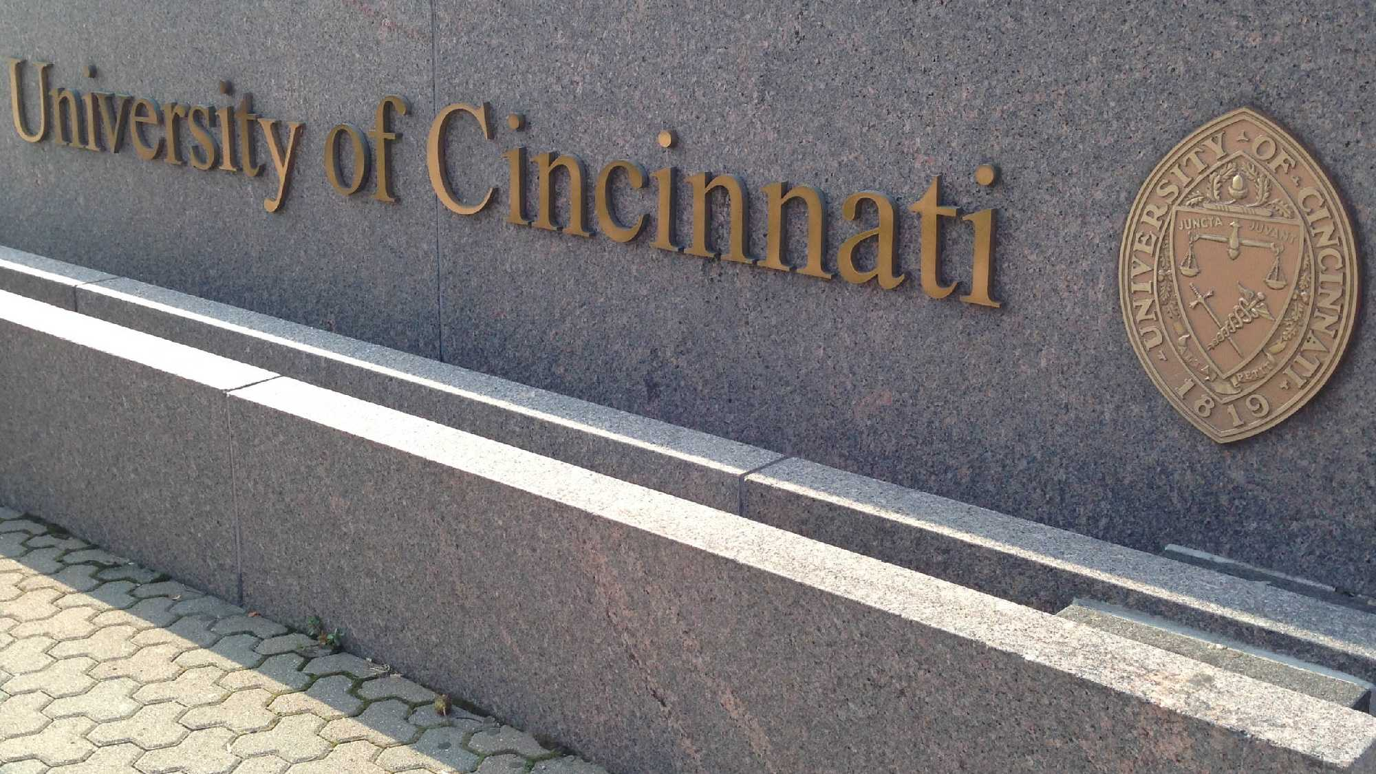 UC University of Cincinnati sign.jpg