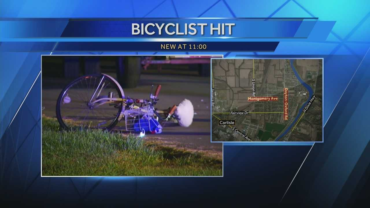 A bicyclist dies after being struck by a truck in Warren County on Monday night.