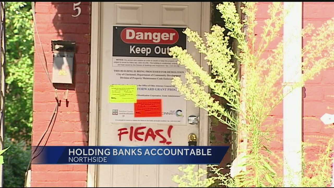A Cincinnati city councilman has asked area banks to help fix up vacant properties.