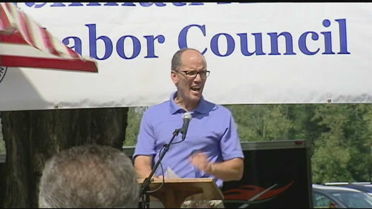 Thomas Perez, secretary of the U.S. Department of Labor, was scheduled to speak at a Labor Day picnic in Cincinnati on Monday.