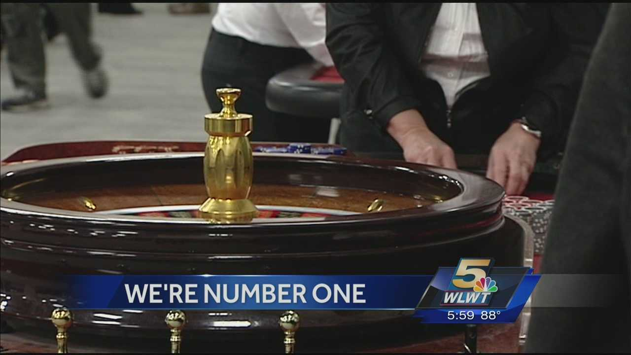 For the first time since opening in March, Cincinnati's casino had the highest adjusted gross revenue among the state's four casinos last month.