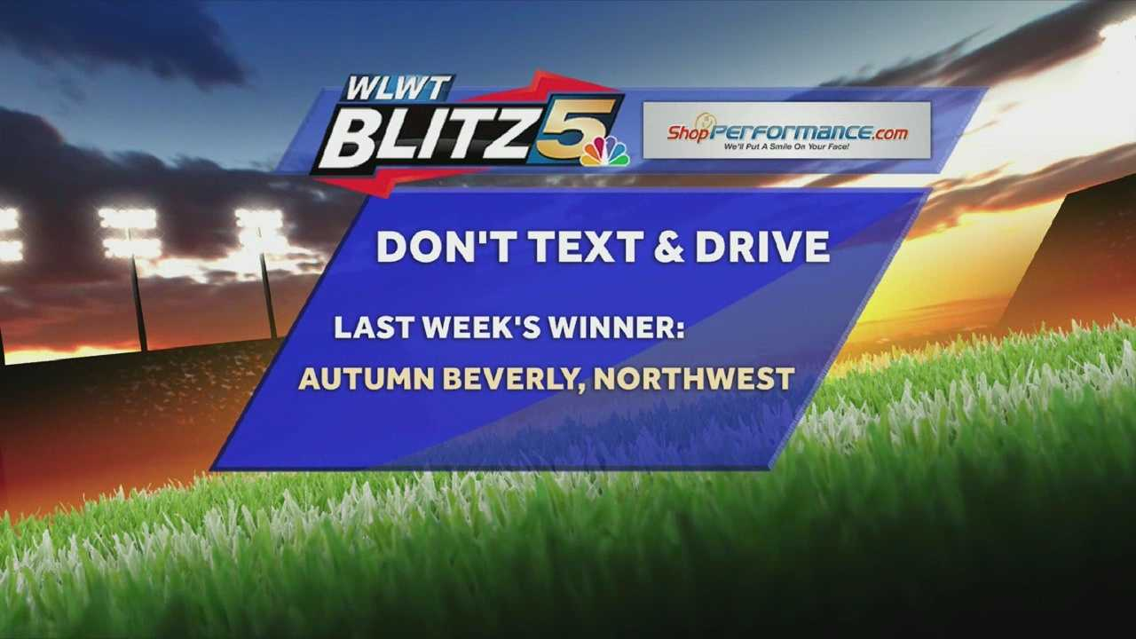 Don't Text and Drive Winner for Aug. 23