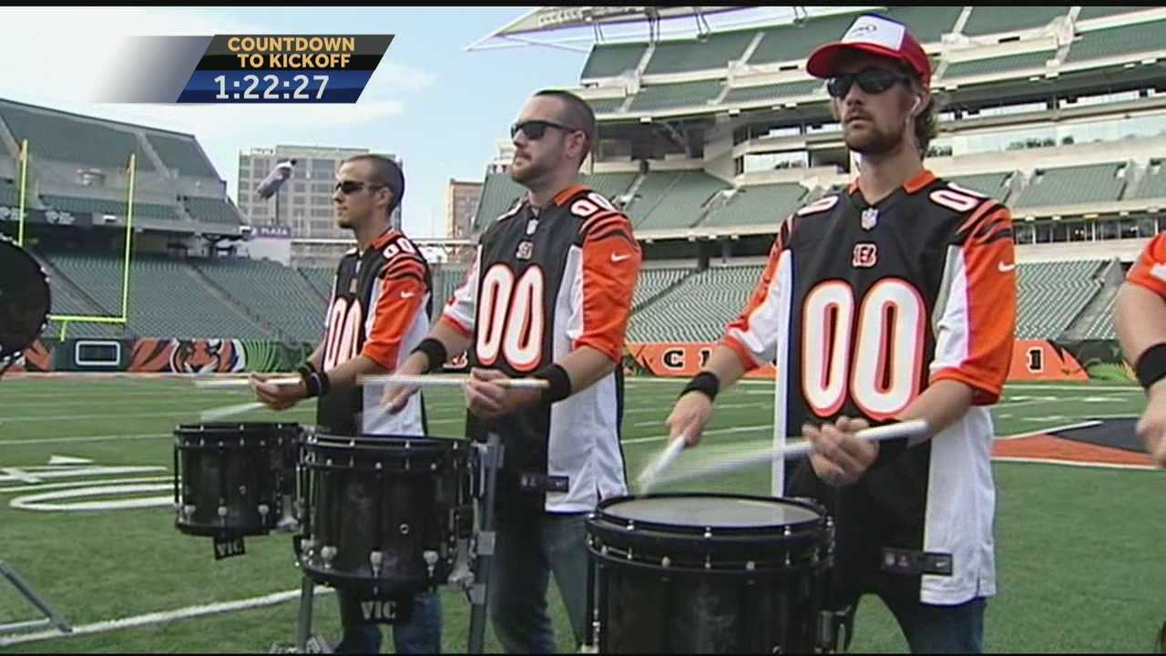 The Cincinnati Bengals are among several NFL teams to add a drumline to the sidelines this season.