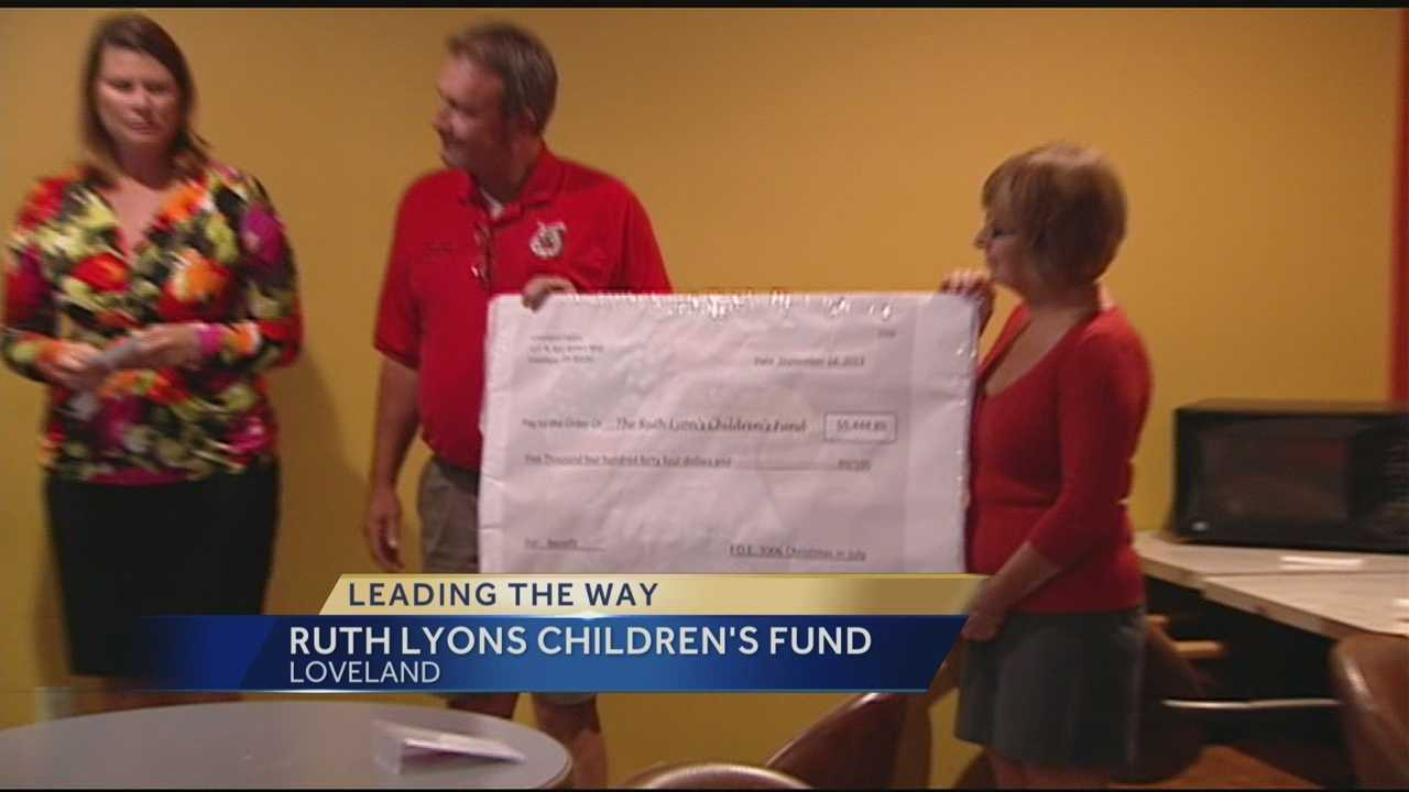 The Loveland Eagles donate thousands of dollars to the Ruth Lyons Children's Fund