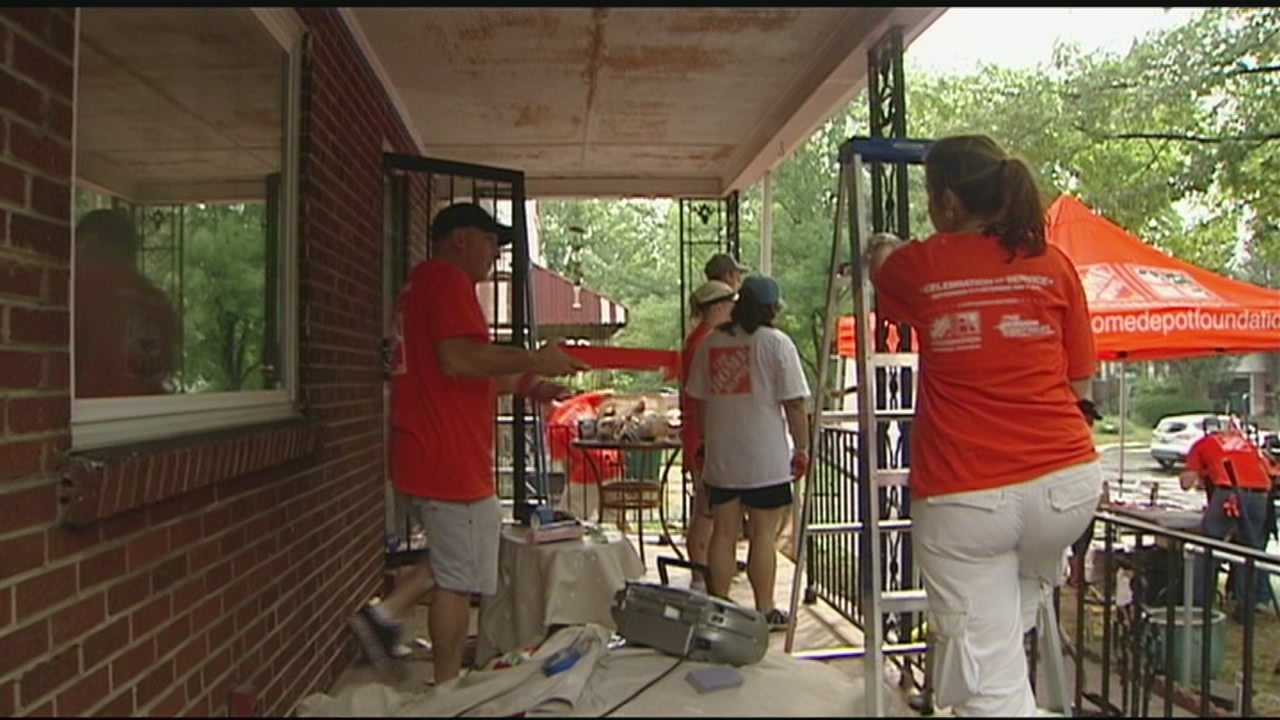 A partnership between the organization People Working Cooperatively and home repair company Home Depot is helping veterans fix up their homes.