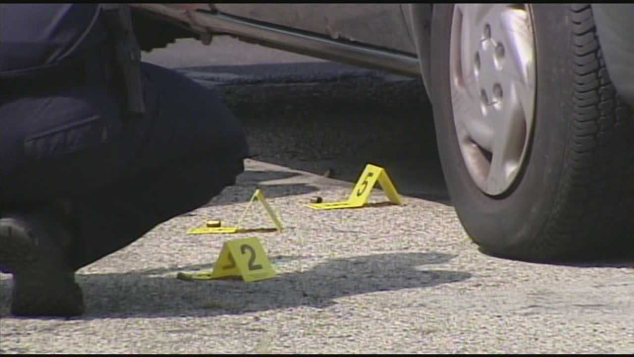 Two people were wounded in a shootout in Middletown on Friday afternoon.