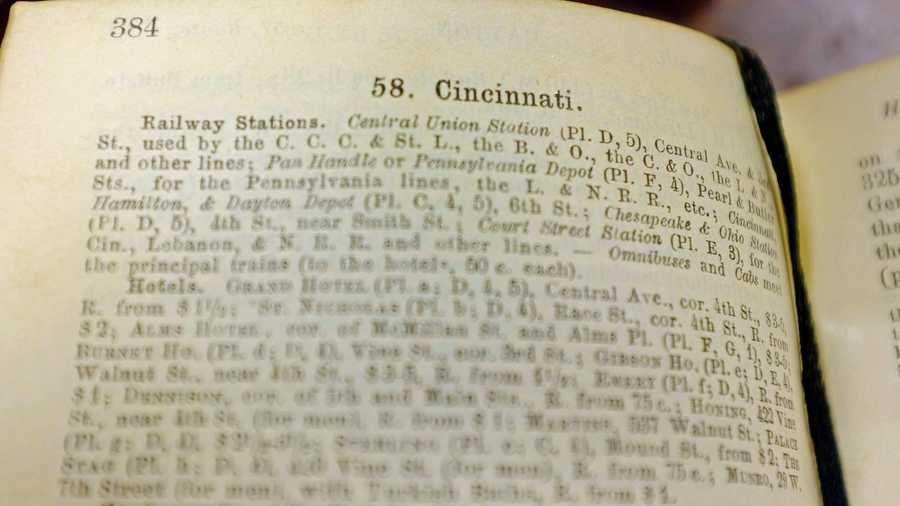 Cincinnati occupies about four pages in the 660 page guide. Here are some of the places, structures and buildings that the guide recommended.