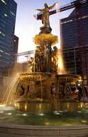 Which includes the Tyler Davidson Fountain, also known as the Genius of Water.