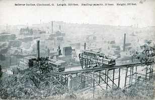 The guide also mentions the incline railways that were used to haul streetcars up and down the hills.