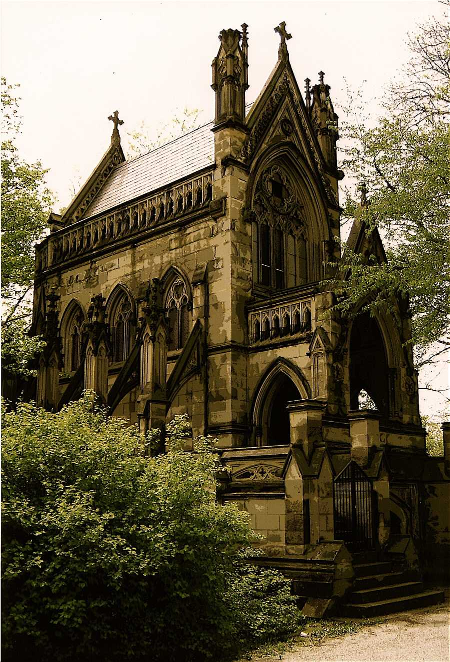 """Spring Grove Cemetery """"is picturesque and contains several interesting monuments."""""""