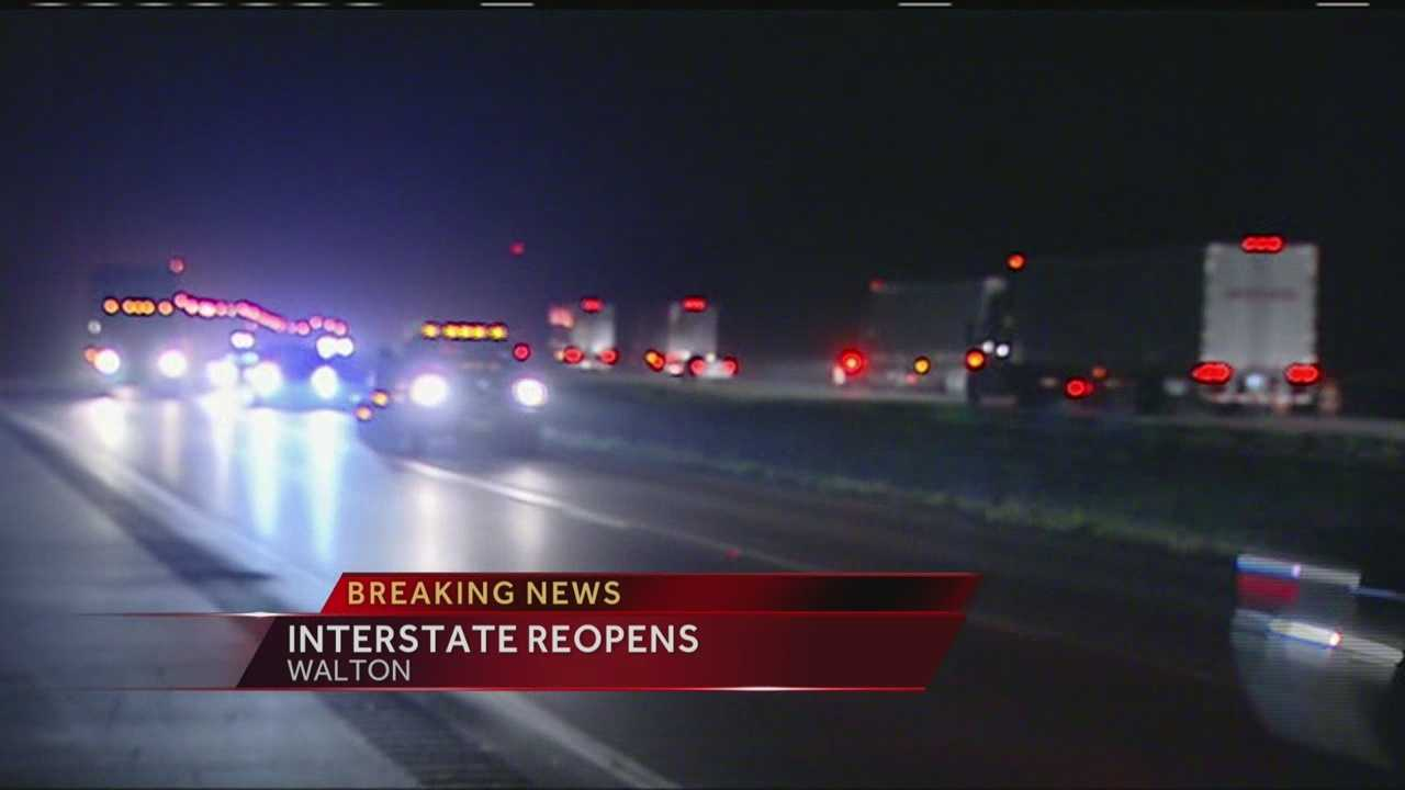 All lanes reopen on Interstate 71 near Walton after an early morning truck fire.