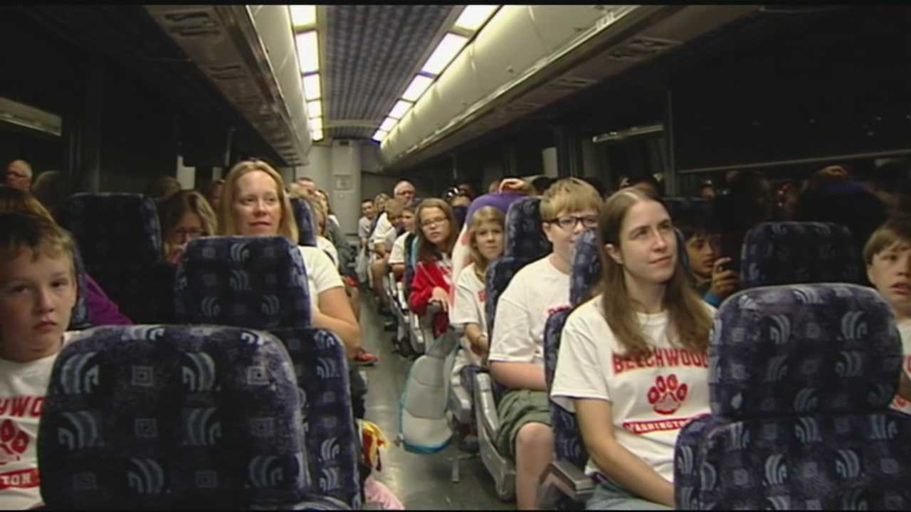 The group from Beechwood School is on the road now, and hoping they will still get to see the sites in Washington D.C.