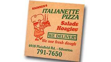 Krimmer's Italianette Pizza in Silverton