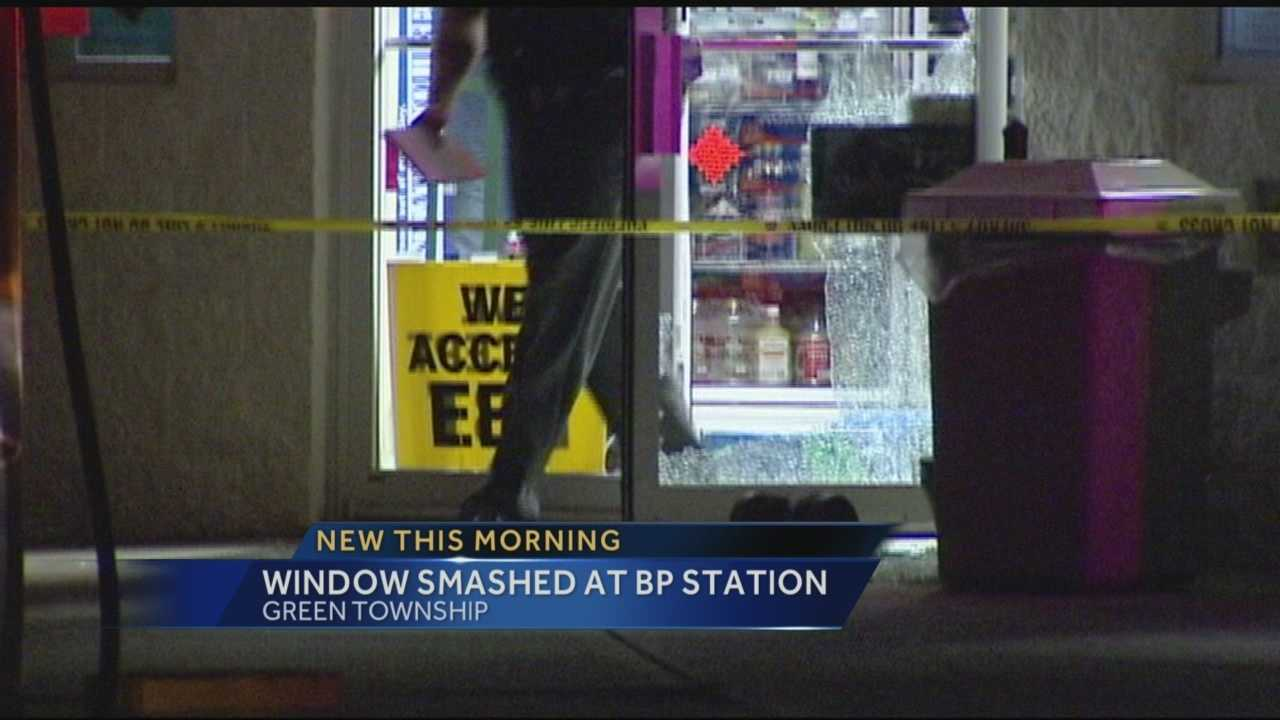 Two gas stations were struck by burglars overnight Tuesday.