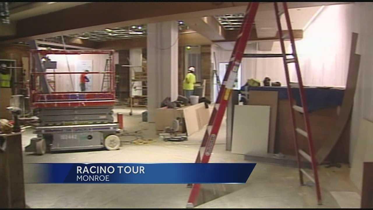 Reporters get look at progress of Warren County racino