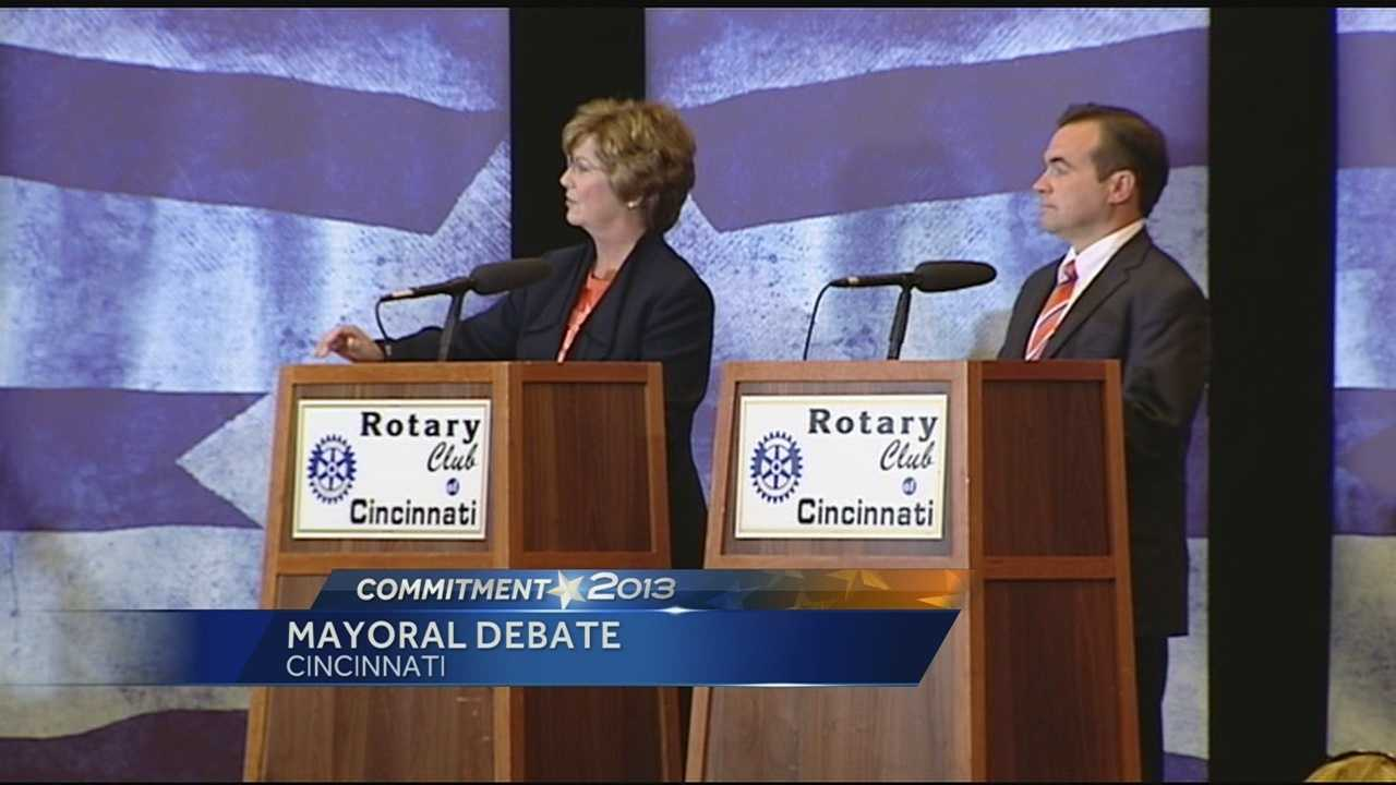 At the final televised debate of the campaign season, when asked about strategies to deal with violent crime at a time when the city's homicide rate is on pace to approach a near-record level, John Cranley and Roxanne Qualls touched on different points of priorities.