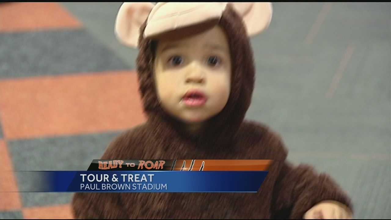 Fans celebrate halloween at Paul Brown Stadium