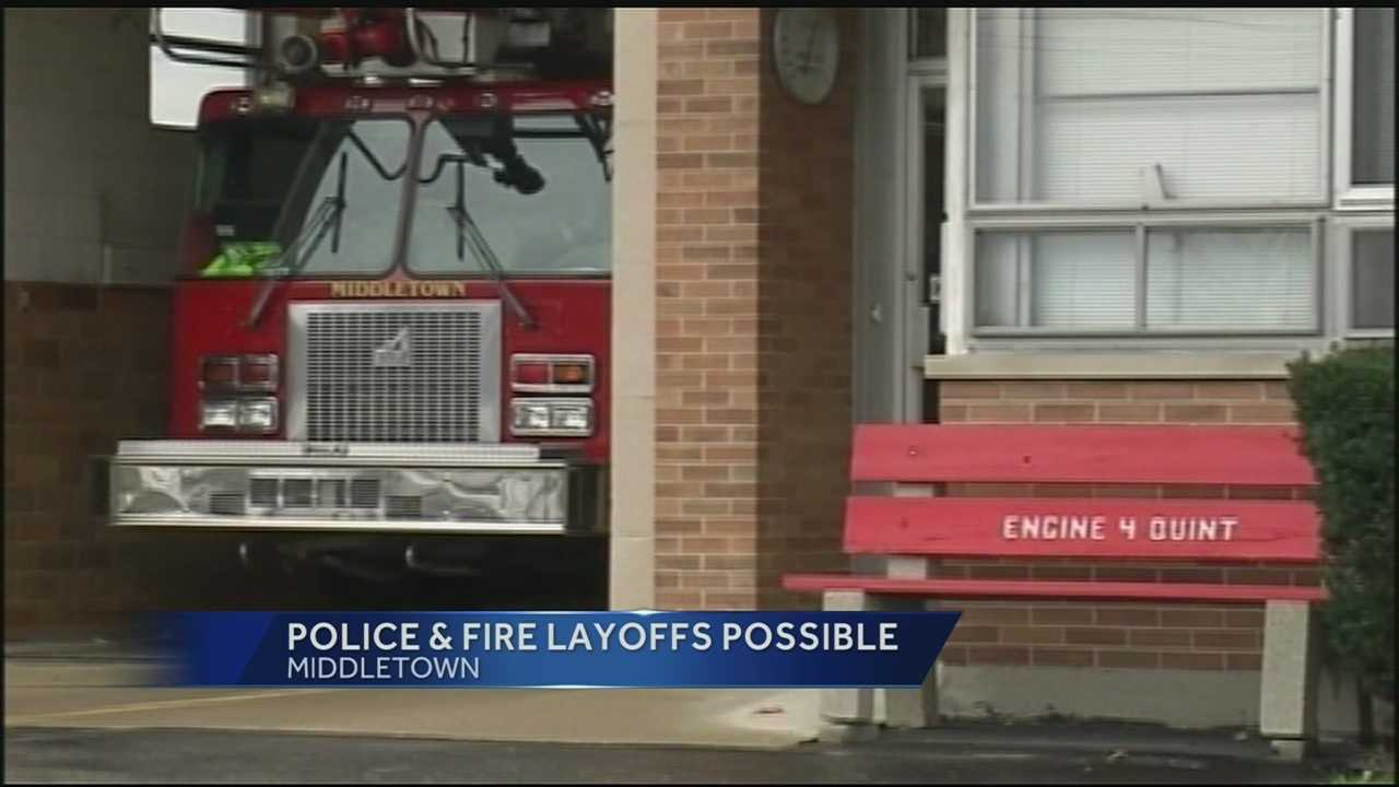 The city manager has proposed cutting 15 firefighters and 11 police officers as a way of trimming the budget.