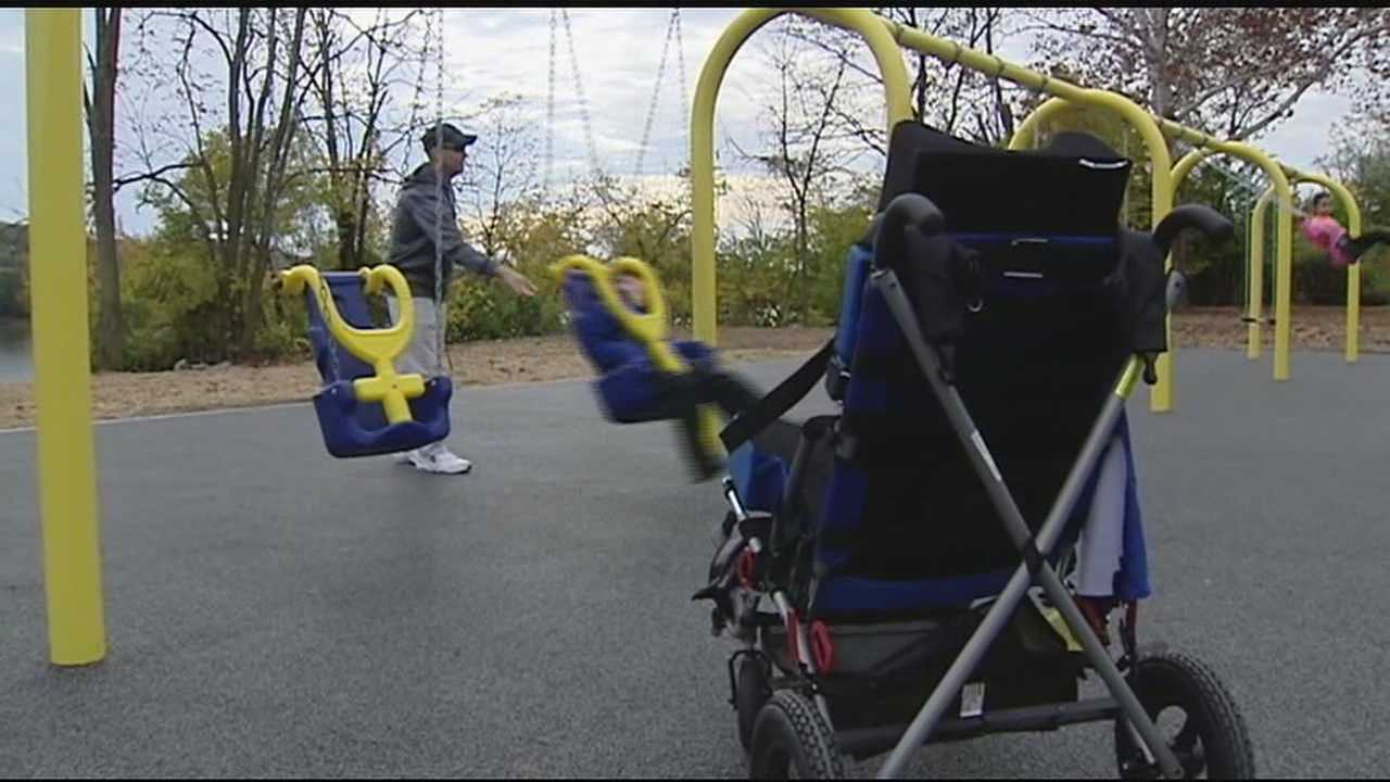 Cincinnati's newest playground is something no city playground has been before -- accessible to anyone, even those with disabilities.